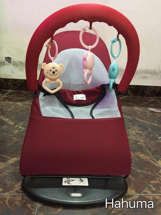 Ghế nhún cho bé có thanh treo đồ chơi - Hahuma shop