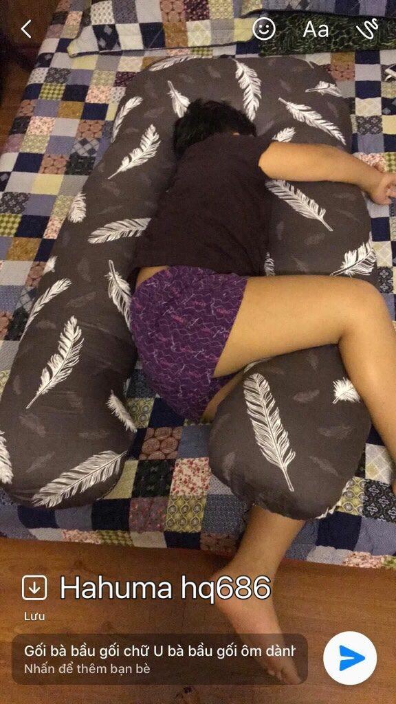 Trẻ em có thể ngủ riêng với gối ôm chữ u