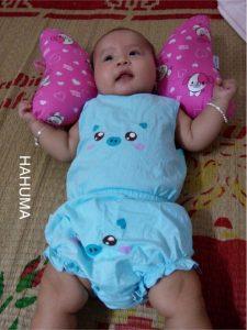 Gối tai voi gối chặn đầu chống méo đầu cho bé sơ sinh