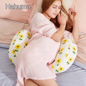 Gối chặn cho bà bầu nâng đỡ bụng bầu Hahuma