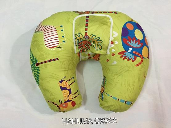 Gối cho con bú gối chống trào ngược Hahuma có túi đựng đai