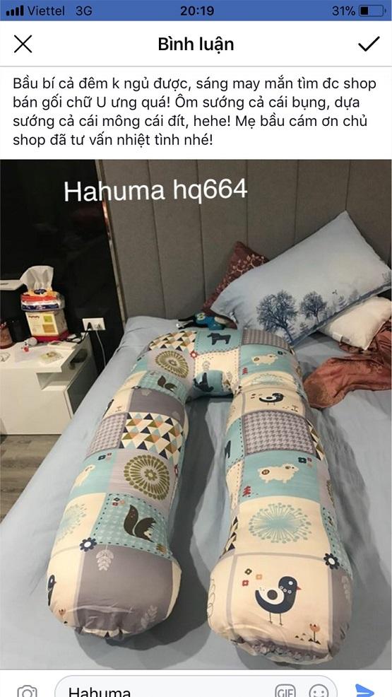 Gối bà bầu loại nào tốt đó là gối ôm chữ U Hahuma
